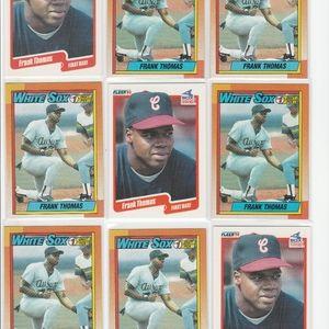 18 Frank Thomas Rookie Baseball Cards White Sox